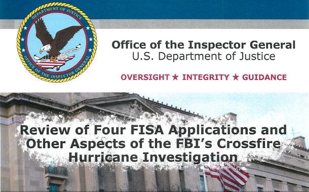 IG-Report: Generalinspekteur bestätigt Verfehlungen desFBI